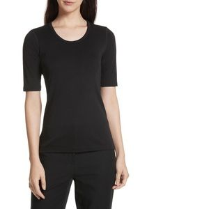Theory Junia Black Pima Cotton T Shirt Small